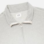 Мужская толстовка C.P. Company Zip Garment Dyed Grey Melange фото- 1