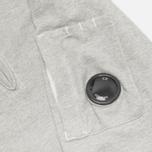 Мужская толстовка C.P. Company Zip Garment Dyed Grey Melange фото- 2