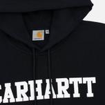 Мужская толстовка Carhartt WIP Kangaroo College Black/White фото- 1