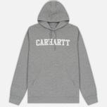 Мужская толстовка Carhartt WIP Kangaroo College Grey Heather/White фото- 0