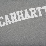 Мужская толстовка Carhartt WIP Kangaroo College Grey Heather/White фото- 2