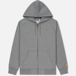 Мужская толстовка Carhartt WIP Hooded Chase Grey Heather/Gold фото- 0