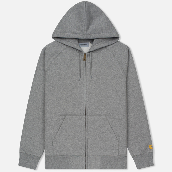 Мужская толстовка Carhartt WIP Hooded Chase Grey Heather/Gold
