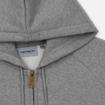 Мужская толстовка Carhartt WIP Hooded Chase Grey Heather/Gold фото- 1