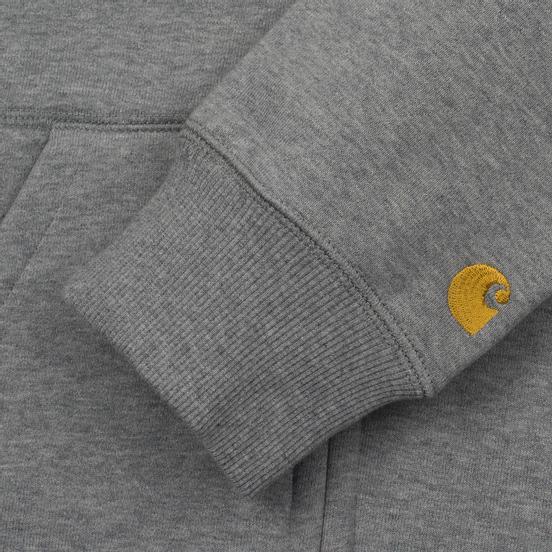 Мужская толстовка Carhartt WIP Hooded Chase Grey Heather/Gold