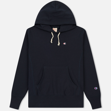 Мужская толстовка Champion Reverse Weave Basic Patch Logo Navy