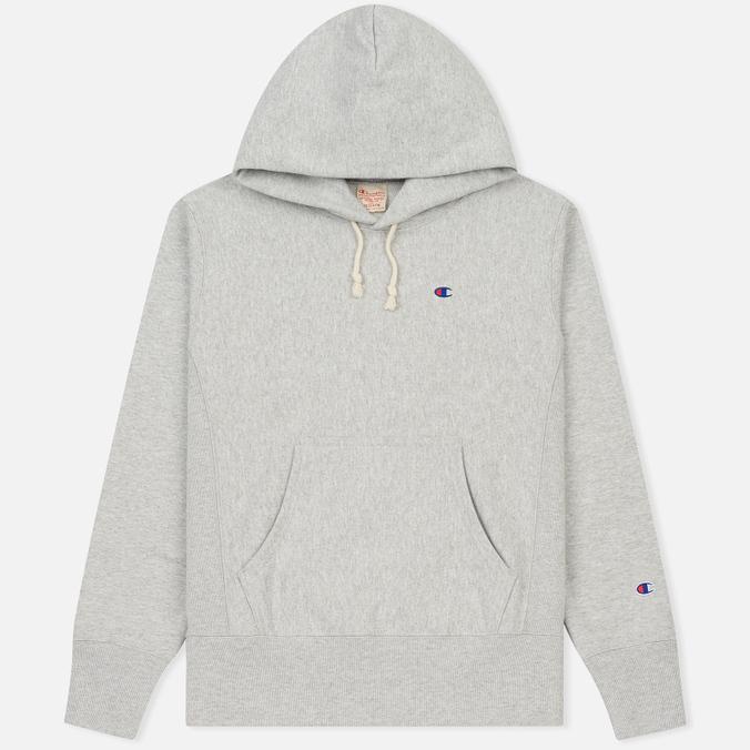 Мужская толстовка Champion Reverse Weave Basic Patch Logo Oxford Grey