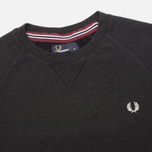 Мужская толстовка Fred Perry Loopback Crew Black Marl фото- 1