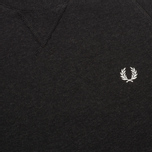 Мужская толстовка Fred Perry Loopback Crew Black Marl фото- 2