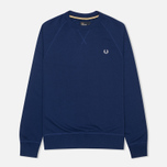 Мужская толстовка Fred Perry Loopback Crew Graphic Blue фото- 0