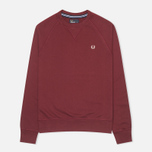 Мужская толстовка Fred Perry Loopback Crew Mahogany фото- 0