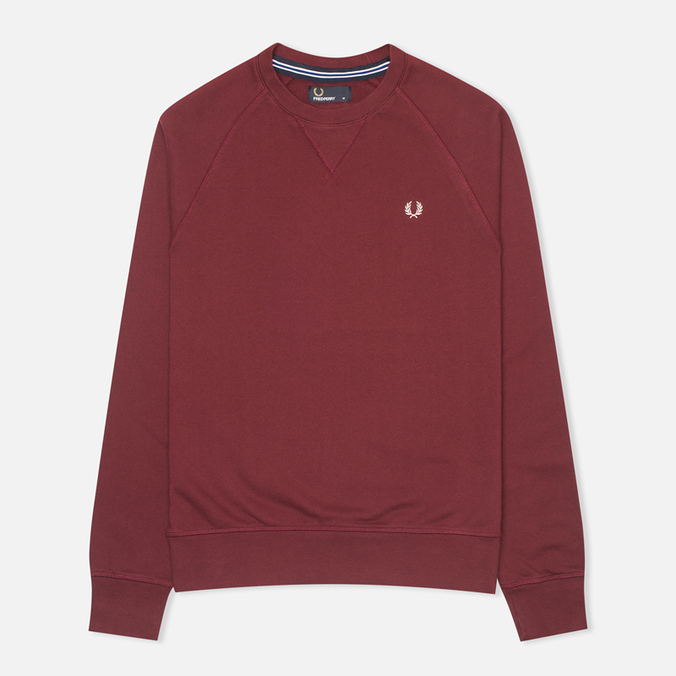 Мужская толстовка Fred Perry Loopback Crew Mahogany
