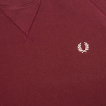 Мужская толстовка Fred Perry Loopback Crew Mahogany фото- 2