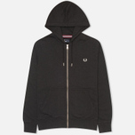 Мужская толстовка Fred Perry Loopback Hooded Charcoal Black фото- 0