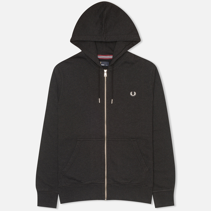 Мужская толстовка Fred Perry Loopback Hooded Charcoal Black