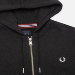 Мужская толстовка Fred Perry Loopback Hooded Charcoal Black фото- 1
