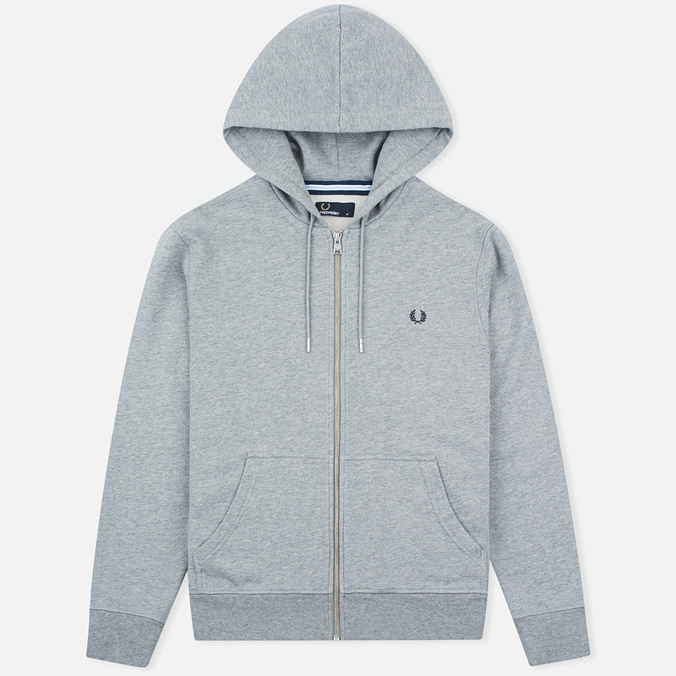 Мужская толстовка Fred Perry Loopback Hooded Steel Marl