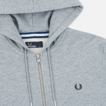 Мужская толстовка Fred Perry Loopback Hooded Steel Marl фото- 1
