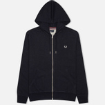 Мужская толстовка Fred Perry Loopback Zip Neck Navy фото- 0