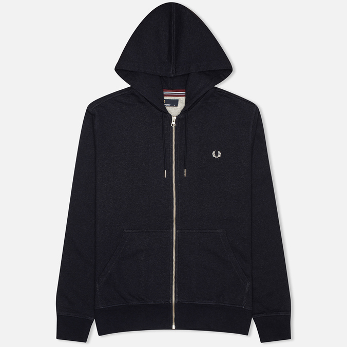 Мужская толстовка Fred Perry Loopback Zip Neck Navy