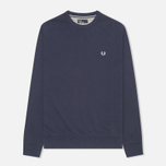 Мужская толстовка Fred Perry Pique Crew Neck Sweat Dark Carbon фото- 0