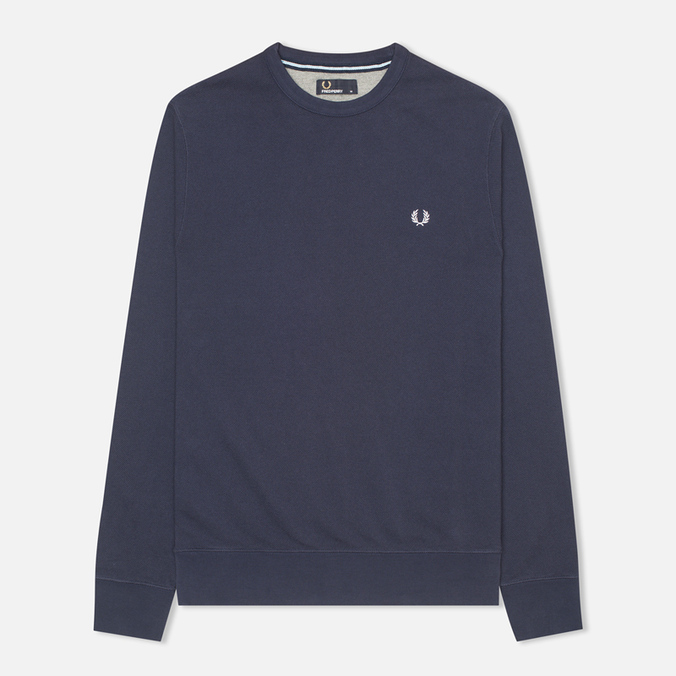 Мужская толстовка Fred Perry Pique Crew Neck Sweat Dark Carbon