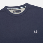 Мужская толстовка Fred Perry Pique Crew Neck Sweat Dark Carbon фото- 1