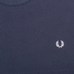 Мужская толстовка Fred Perry Pique Crew Neck Sweat Dark Carbon фото- 2