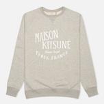 Maison Kitsune Palais Royal Men's Sweatshirt Grey Melange photo- 0