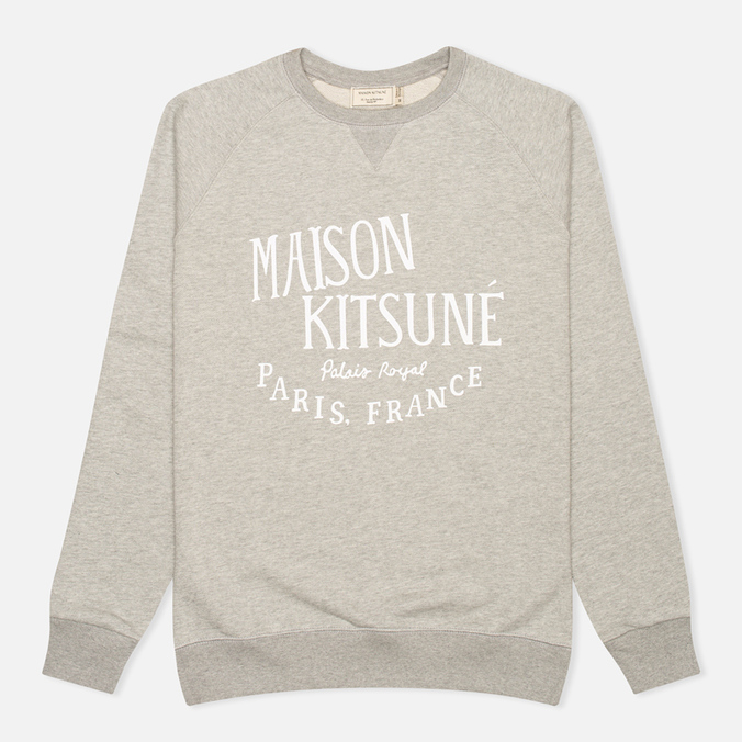 Maison Kitsune Palais Royal Men's Sweatshirt Grey Melange