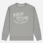 Мужская толстовка Maison Kitsune Palais Royal Grey Melange фото- 0