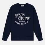 Мужская толстовка Maison Kitsune Palais Royal Navy фото- 0