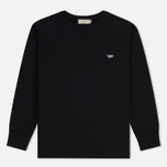 Мужская толстовка Maison Kitsune Tricolor Fox Patch Black фото- 0