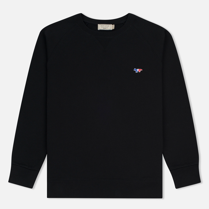 Мужская толстовка Maison Kitsune Tricolor Fox Patch Black