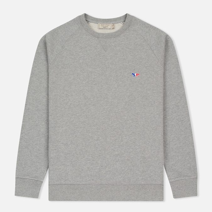 Мужская толстовка Maison Kitsune Tricolor Fox Patch Grey Melange