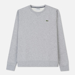 Мужская толстовка Lacoste Sport Crew Neck Solid Fleece Silver Grey Chine фото- 0