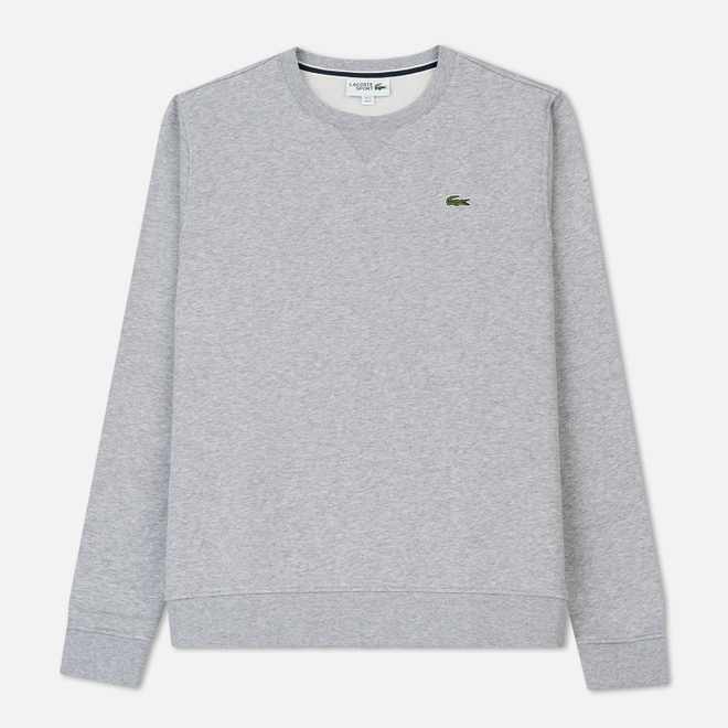 Мужская толстовка Lacoste Sport Crew Neck Solid Fleece Silver Grey Chine