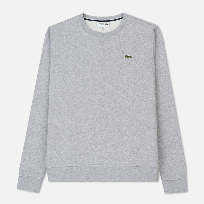 Мужская толстовка Lacoste Sport Crew Neck Solid Fleece Silver Grey Chine