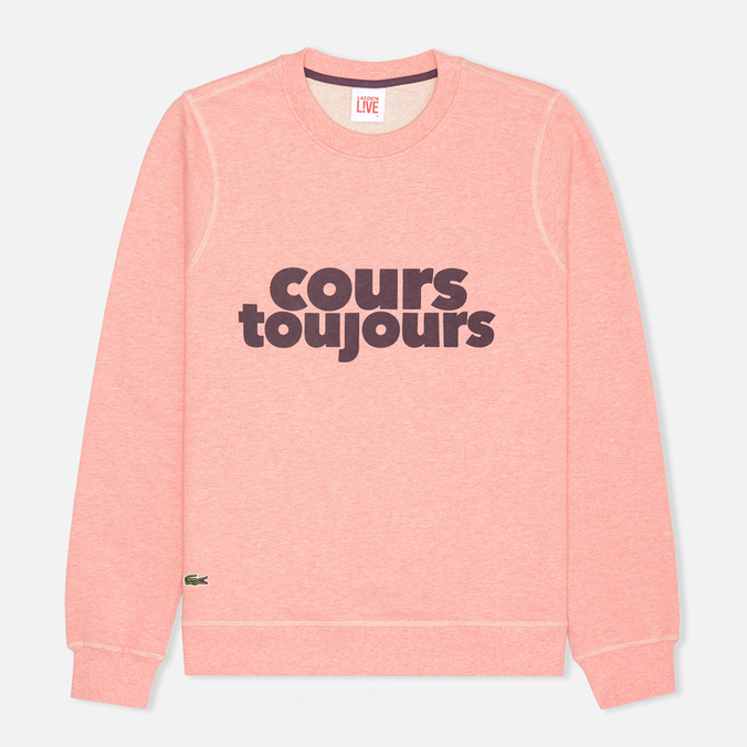 Мужская толстовка Lacoste Live Cours Toujours Print Chine/Red Wine