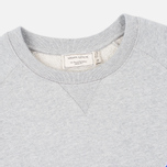 Мужская толстовка Maison Kitsune Crew Neck Tricolor Fox Chest Patch Grey Melange фото- 1