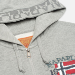 Napapijri Barcus Summer Men's Hoody Grey Melange photo- 1