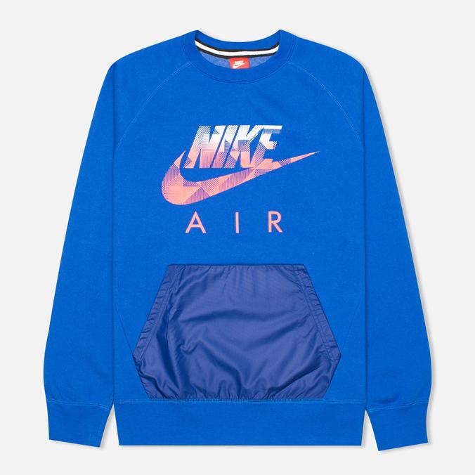 Мужская толстовка Nike AW77 FLC Crew Hybrid Blue