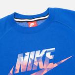 Мужская толстовка Nike AW77 FLC Crew Hybrid Blue фото- 1