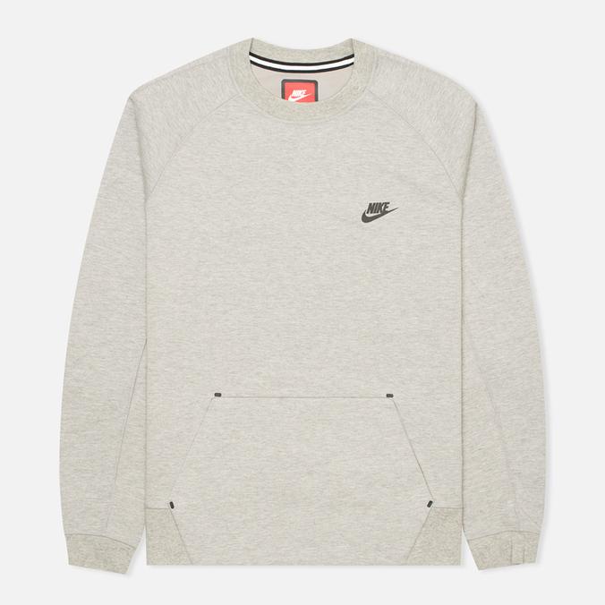 Мужская толстовка Nike Tech Fleece Crew Grey