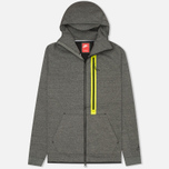 Мужская толстовка Nike Tech Fleece Full Zip Tumbled Grey/Black/Heather фото- 0