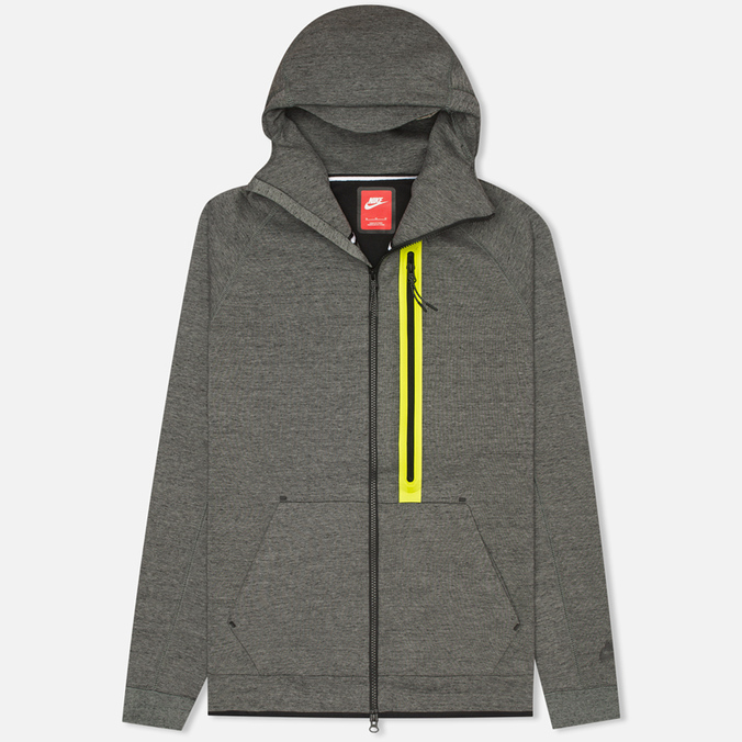 Мужская толстовка Nike Tech Fleece Full Zip Tumbled Grey/Black/Heather