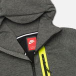 Мужская толстовка Nike Tech Fleece Full Zip Tumbled Grey/Black/Heather фото- 2