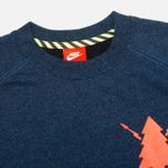 Мужская толстовка Nike Track And Field Asymmetrical Crew Game Royal/Bright Crimson фото- 1