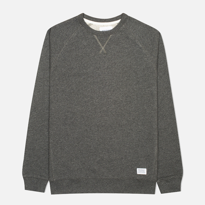 Мужская толстовка Norse Projects Ketel Crew Charcoal Melange