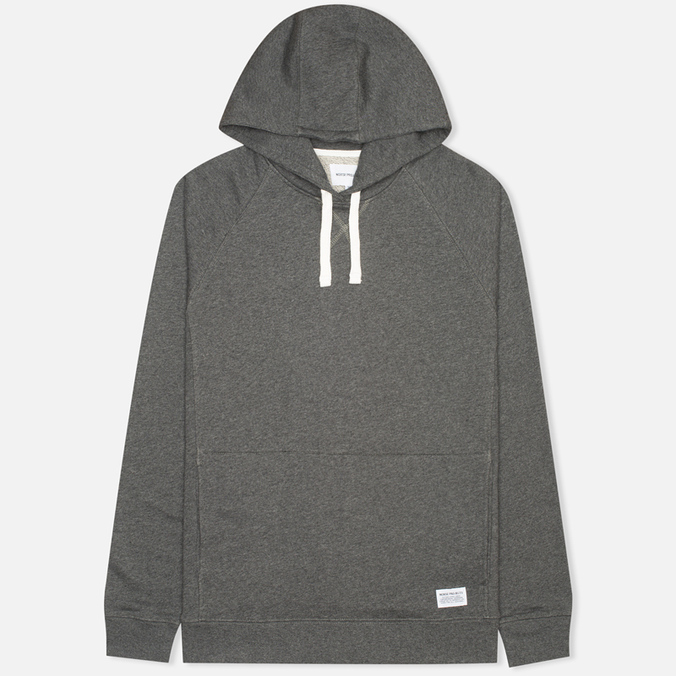 Мужская толстовка Norse Projects Ketel Hood Charcoal Melange